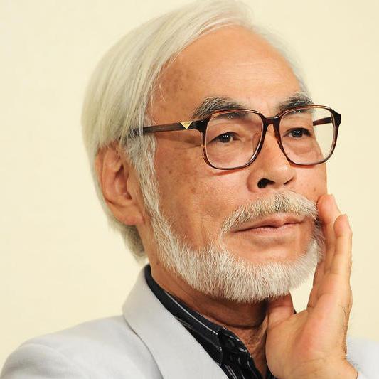 Headshot of Japanese animation director Hiyao Miyazaki.