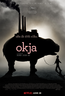 Film cover for Okja from director Bong Joon Ho.
