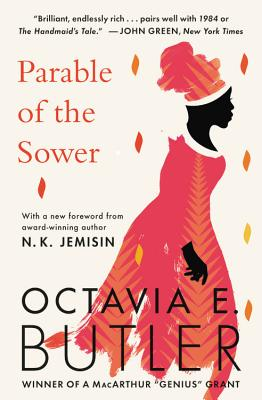 Book cover for Parable of the Sower by Octavia E. Butler.