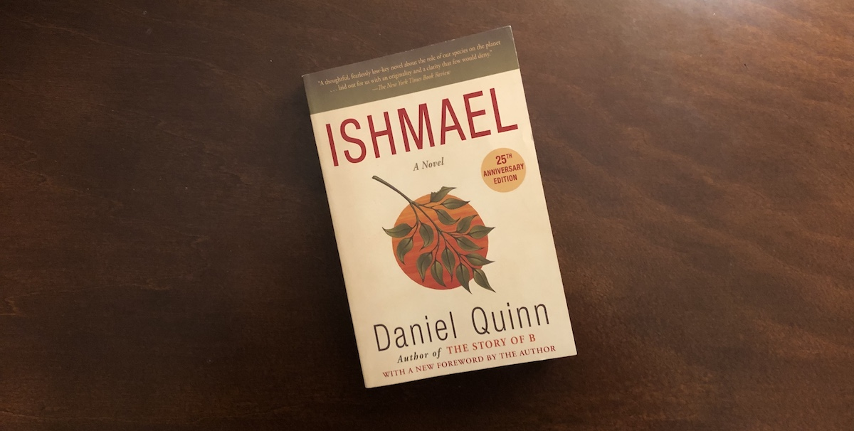 """Book cover of """"Ishmael"""" by Daniel Quinn."""