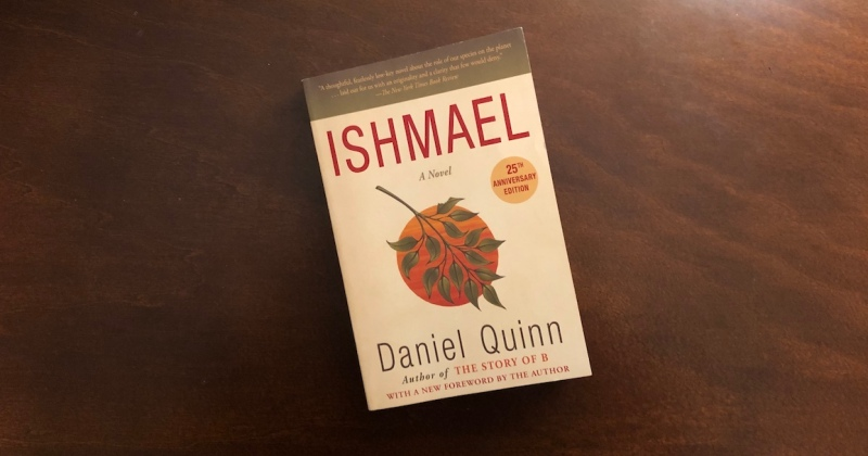 "Book cover of ""Ishmael"" by Daniel Quinn."