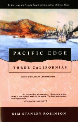 The book cover for Pacific Edge by Kim Stanley Robinson.
