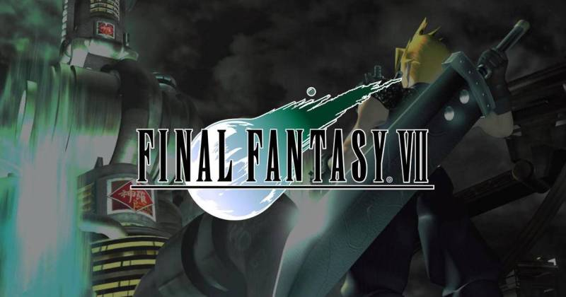 Screenshot of Cloud Strife looking at Midgar from Final Fantasy VII.