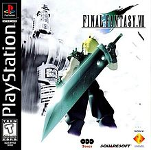 An image of the original box cover for Final Fantasy VII.