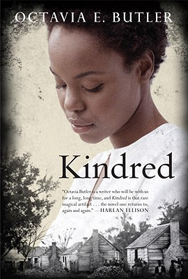 Book cover of Kindred by Octavia Butler.