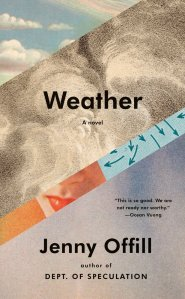 The book cover for Weather by Jenny Offill.