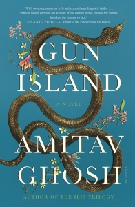 The official book cover for Gun Island by Amitav Ghosh.