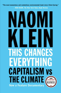 The book cover for This Changes Everything by Naomi Klein.