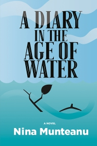 The book cover for A Diary in the Age of Water by Nina Munteanu.