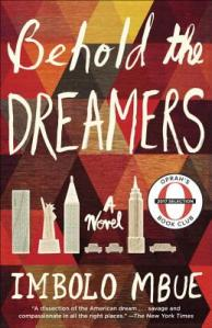 Book cover for Behold the Dreamers by Imbolo Mbue.